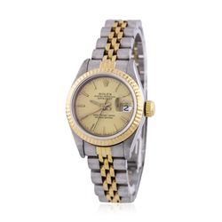 Ladies Rolex Two-Tone DateJust Wristwatch