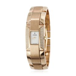 Ladies Concord 18KT Rose Gold 0.30ctw La Scala Diamond Wristwatch