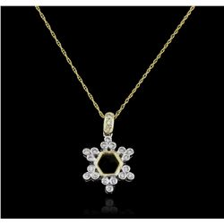 14KT Yellow Gold 0.26ctw Diamond Pendant