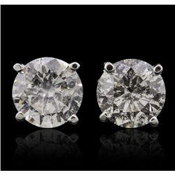 14KT White Gold 2.42ctw Diamond Stud Earrings