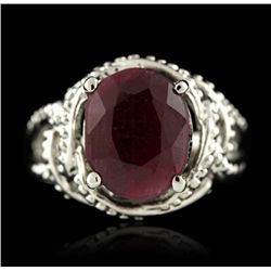 SILVER 6.53ct Corundum Ring