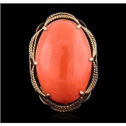18KT Yellow Gold 24.07ct Coral Ring