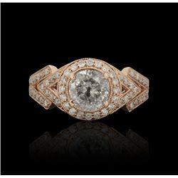 14KT Rose Gold 1.61ctw Diamond Ring A4688