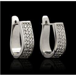 14KT White Gold 1.02ctw Diamond Earrings GB909