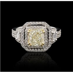 18KT White Gold 1.23ct Diamond Ring GB1176