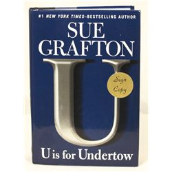 "Autographed Copy of ""U is for Undertow"" BK18"