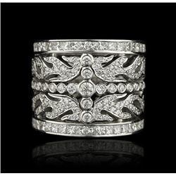 14KT White Gold 3.84ctw Diamond Ring GB446