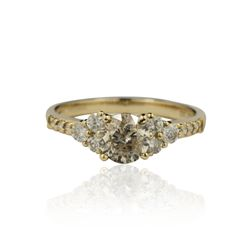 14KT Yellow Gold 1.49ctw Diamond Unity Ring A4502
