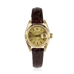 Ladies Rolex DateJust 18KT Yellow Gold Wristwatch GB676