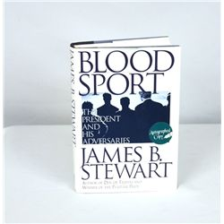 Signed Copy of Blood Sport by James B. Stewart BK204