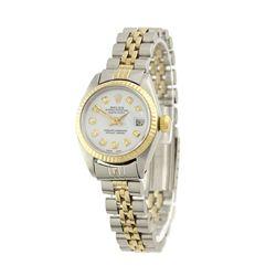 Lady Rolex Two-Tone DateJust Wristwatch A4611