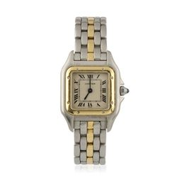 Two Tone Cartier Panthere Wristwatch A4628