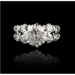 14KT White Gold 3.80ct Diamond Unity Ring A4105