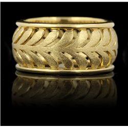 Tiffany & Co. Villa Paloma Palm 18KT Yellow Gold Ring GB959