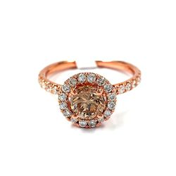 14KT Rose Gold 1.31ct Diamond Ring A3785