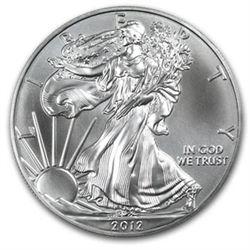 2012 American Silver Eagle Dollar GEM BU Coin MNTCN1