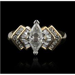 14KT Yellow Gold 1.00ctw Diamond Ring GB752