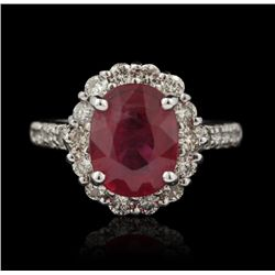 14KT White Gold 4.11ct Ruby and Diamond Ring FJM2432