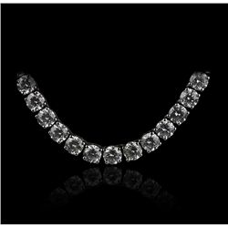 14KT White Gold 18.73ct Diamond Tennis Necklace A3853