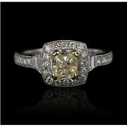 18KT White Gold 1.65ctw Diamond Ring FJM2019
