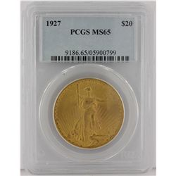 1927 $20 PCGS MS65 St. Gaudens Double Eagle Gold Coin GOP49