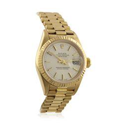 Ladies Rolex DateJust 18KT Yellow Gold Wristwatch GB796