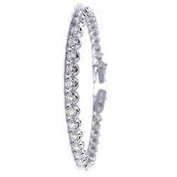 18KT White Gold 8.24ct Diamond Tennis Bracelet A3290