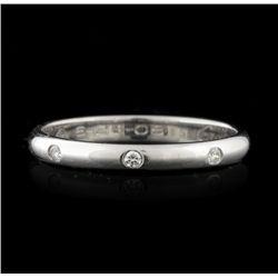 Cartier Platinum 0.04ctw Diamond Band Ring GB1230