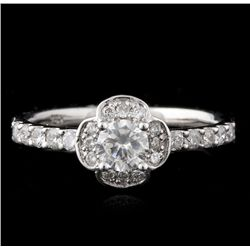14KT White Gold 0.67ctw Diamond Ring A4589