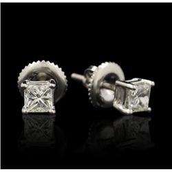 14KT White Gold 0.50ctw Diamond Stud Earrings GB1007