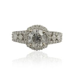 14KT White Gold 2.09ctw Diamond Unity Ring A4519