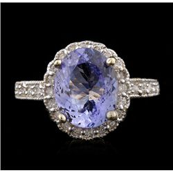 14KT Yellow Gold 2.91ct Tanzanite and Diamond Ring A4572
