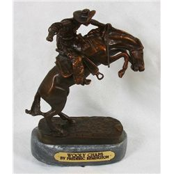 Frederic Remington Bronze Statue Reproduction - Wooly Chaps