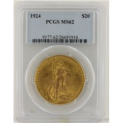 1924 $20 PCGS MS62 St. Gaudens Double Eagle Gold Coin DaveF1236