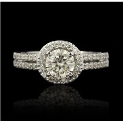 14KT White Gold 0.83ct Diamond Ring A4484