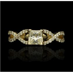 14KT Yellow Gold Ladies 1.17ct Diamond Ring J63