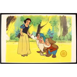 "Walt Disney ""Snow White with 3 Dwarfs"" Serigraph Cel DisneySeri428"