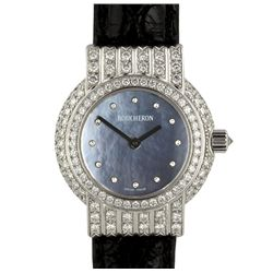 Boucheron 18KT White Gold MOP and Diamond Wristwatch GB1151