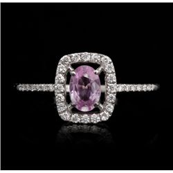 14KT White Gold 0.53ct Pink Sapphire and Diamond Ring FJM2503