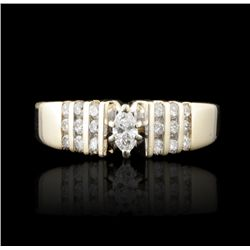 14KT Yellow Gold 0.60ctw Diamond Ring GB1241
