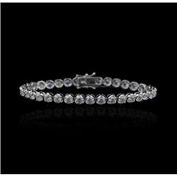 18KT White Gold 5.68ct Diamond Tennis Bracelet A3699