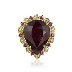 14KT Yellow Gold 21.51ctw Ruby and Diamond Ring RM930