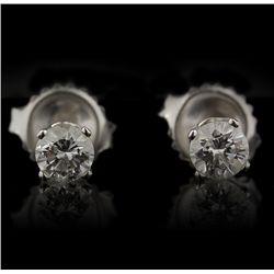 14KT White Gold 0.65ctw Diamond Earrings GB943