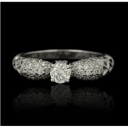 14KT White Gold 0.29ct Diamond Ring FJM2421