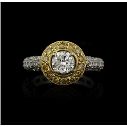 18KT White, Yellow and Rose Gold 2.63ctw Diamond Ring GB1101