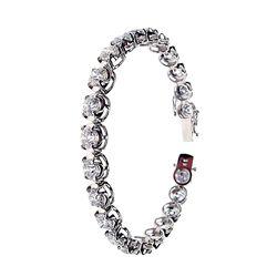 18KT White Gold 17.34 Diamond Tennis Bracelet A3309