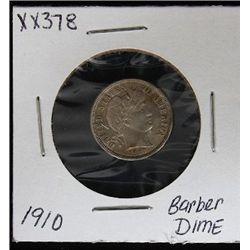 1910 Barber Dime XX378