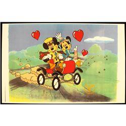"Walt Disney ""Nifty Ninties"" Ltd Ed Serigraph Cel DisneySeri404"