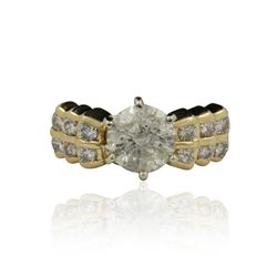 14KT Yellow Gold 2.37ctw Diamond Ring A4524