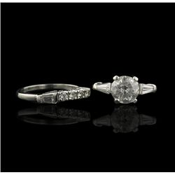 Platinum 2.37ctw VS2-I2/G-H Diamond Wedding Set A4343